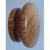 Knob style I 48mm oak lacquered wooden knob