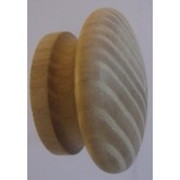 Knob style I 55mm ash sanded wooden knob