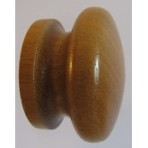 Knob style I 55mm iroko lacquered wooden knob