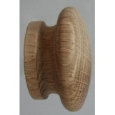 Knob style I 55mm oak sanded wooden knob