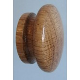 Knob style I 55mm oak lacquered wooden knob