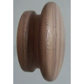 Knob style I 55mm walnut sanded wooden knob