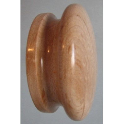 Knob style I 60mm maple lacquered wooden knob