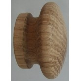 Knob style I 60mm oak sanded wooden knob