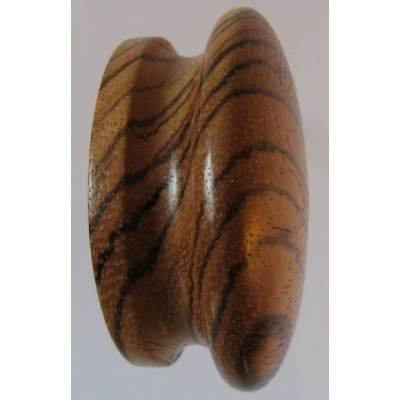 Knob style I 60mm zebrano lacquered wooden knob