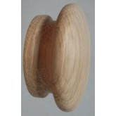 Knob style I 70mm oak sanded wooden knob