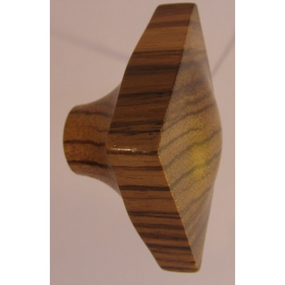 Knob style N 45mm lacquered zebrano wooden knob