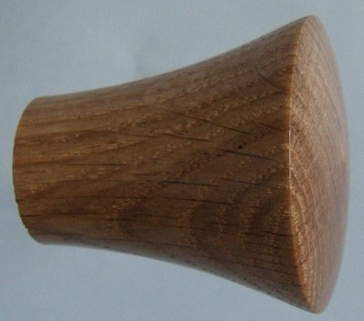 Knob style P 40mm oak lacquered wooden knob