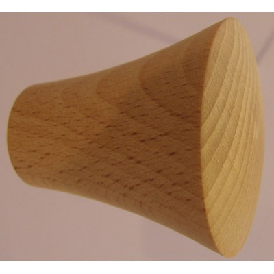Knob style P 40mm beech sanded wooden knob