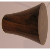 Knob style Q 40mm walnut lacquered wooden knob
