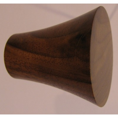 Knob style Q 40mm walnut lacquered wooden knob