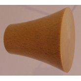 Knob style Q 40mm beech lacquered wooden knob