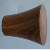 Knob style Q 40mm oak lacquered wooden knob