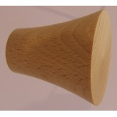 Knob style Q 40mm beech sanded wooden knob