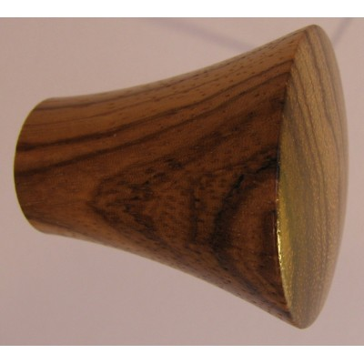 Knob style P 40mm zebrano lacquered knob
