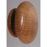 Knob style R 48mm oak lacquered wooden knob