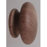 Knob style R 44mm walnut sanded wooden knob