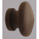 Knob style I 36mm walnut sanded wooden knob