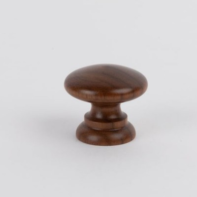Knob style A 30mm walnut lacquered wooden knob