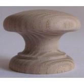 Knob style D 48mm ash sanded wooden knob