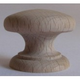 Knob style D 38mm beech sanded wooden knob