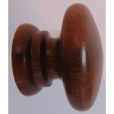 Knob style A 40mm sapele lacquered wooden knob