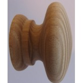 Knob style A 44mm ash sanded wooden knob