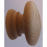 Knob style A 44mm beech sanded wooden knob