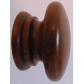 Knob style A 48mm sapele lacquered wooden knob