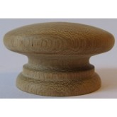 Knob style A 55mm oak sanded wooden knob