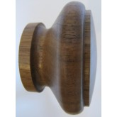 Knob style G 55mm walnut lacquered wooden knob