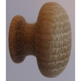 Knob style R 30mm oak sanded wooden knob