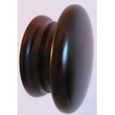 Knob style A 70mm cherry red mahogany lacquered wooden knob