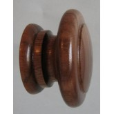 Knob style E 48mm walnut lacquered wooden knob