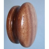 Knob style I 70mm sapele lacquered wooden knob