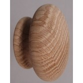 Knob style R 48mm oak sanded wooden knob